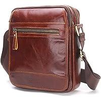 Contacts Genuine Leather Men Messenger Crossbody Shoulder Bag Travel Handbag