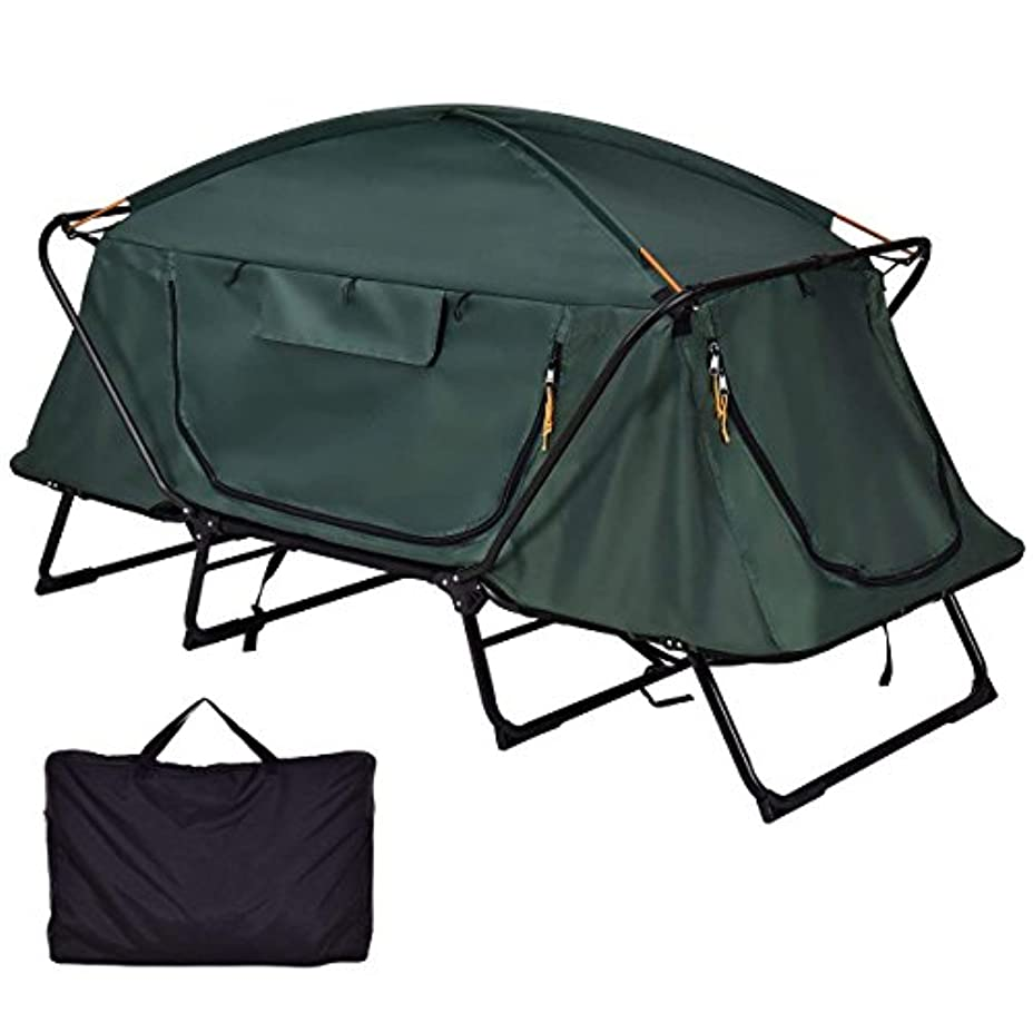 控えめな全能推定Tangkula Tent Cot Folding Waterproof 1 Person Hiking Camping Tent with Carry Bag 141[並行輸入]