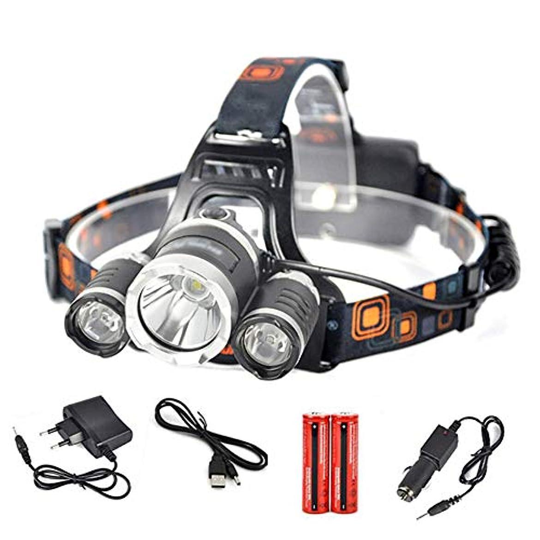 場所学習デイジー釣りヘッドランプ LED、T6 R2 ヘッドライト4モード前照灯ヘッドハンティングキャンプ用懐中電灯乗馬読書雨の天気ヘッドマウントライト