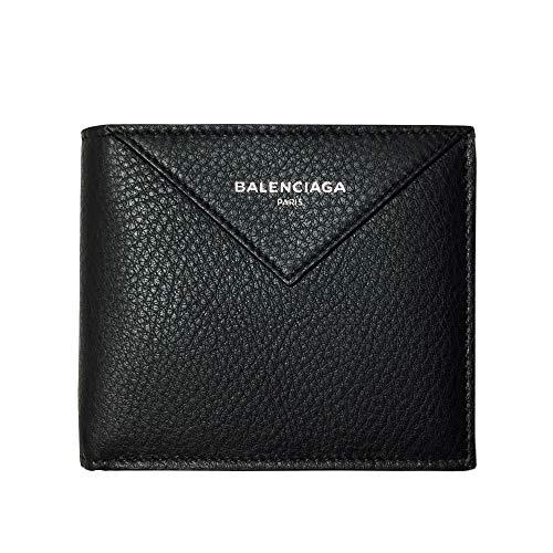 [バレンシアガ] BALENCIAGA メンズ 二つ折り財布 504550 DLQ0N 1060 ペーパー スクエアコインウォレット レザー ブラック [並行輸入品]