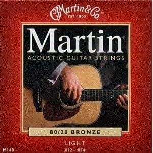 【 並行輸入品 】 C.F. Martin (マーティン) Acoustic Martin (マーティン) 80/20 Bronze Wound Light, .012 - .054, M-140