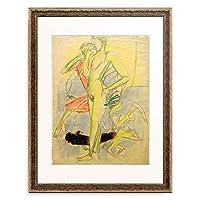 エルンスト・ルートヴィヒ・キルヒナー Ernst Ludwig Kirchner 「Zwei Figuren im Raum」 額装アート作品