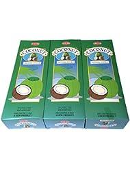 ココナッツ香スティック 3BOX(18箱) /HEM COCONUT/インセンス/インド香 お香 [並行輸入品]