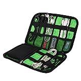 マルチケース Abestbox® 収納ポーチ アクセサリー収納バッグ ケーブル類やデジタル小物入れ PC周辺機器 モバイル収納ケース USBメモリー スマホ SDカード入れ 旅行用品 防水 整理バック
