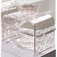 センコー クリアローズ N バスチェア 風呂椅子 高さ約 25cm ピンク 約33×24×高25cm 78258