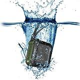 Trendwoo Bluetooth2.1+EDRワイヤレススピーカー+IPX5 防水+1500mAhリチウム電池+ハンズフリー通話可能+連続再生8時間 ハイキング、登山、ランニング、キャンプとBBQなどアウトドア運動/お風呂に最適! Rockman-S (グリーン)