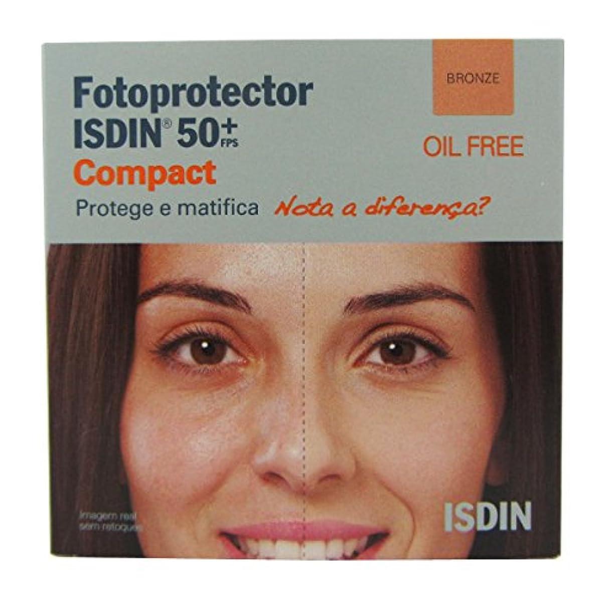 ロボット繊細地震Isdin Photoprotector Compact 50+ Bronz 10g [並行輸入品]