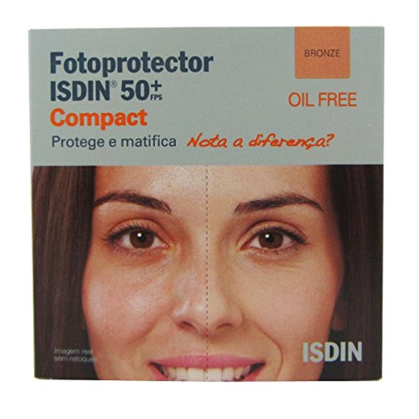 話す否認する落ち着くIsdin Photoprotector Compact 50+ Bronz 10g [並行輸入品]