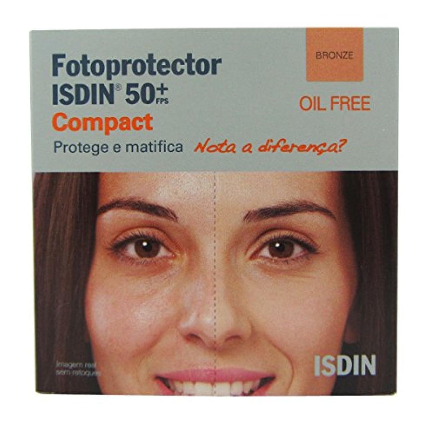 感性揺れる混雑Isdin Photoprotector Compact 50+ Bronz 10g [並行輸入品]