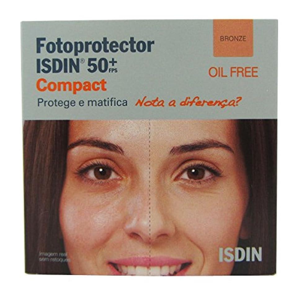 欺く微生物より平らなIsdin Photoprotector Compact 50+ Bronz 10g [並行輸入品]