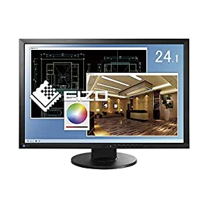 EIZO FlexScan 24.1インチ ブルーライトカット&フリッカーフリー対応液晶モニター(WUXGA/1920×1200/IPSパネル/ノングレア/スリムベゼル/縦回転(ローテーション)/ブラック)EV2436W-ZBK