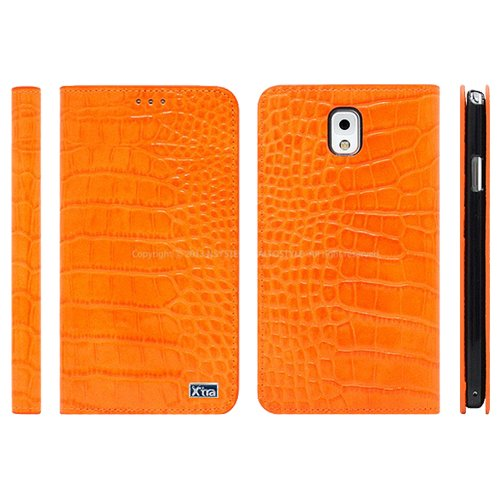 Galaxy S4 Extra Phantom Flip エクストラ ファントム フリップ スマホ 手帳型 ダイアリー ケース カバー オレンジ Orange ギャラクシー S4