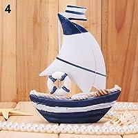 lightclub Table Dislpay 木製クラフト 航海 ホワイトホイール ミニセーリングボート 4 50EXF43D3Q67W600294PQ4B3