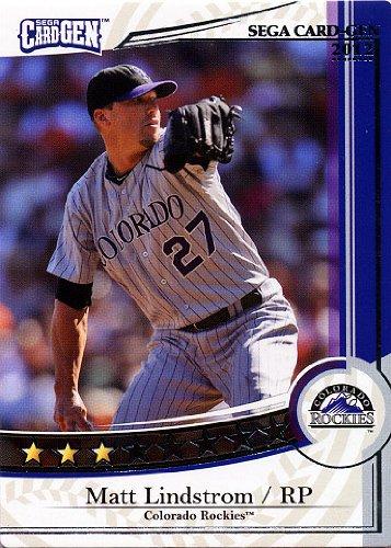 【SEGA CARD GEN MLB】セガ カードジェンMLB 2012 白カード マット・リンドストロム J12-259