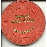 $ 0.25 Ramadaカード部屋Paso Robles CaliforniaカジノチップObsolete
