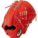 asics(アシックス) 硬式 野球用 グローブ 投手用 (右投げ用) 高校野球対応 GOLD STAGE SPEED AXEL ゴールドステージ スピードアクセル サイズ8 2019年モデル 3121A179 N.Rオレンジ LH(右投げ用)