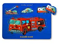 Rescue Vehicle Themed Wooden Puzzle by Crocodile Creek [並行輸入品]