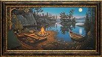 North American Art Moonlight Bay Framed Art [並行輸入品]