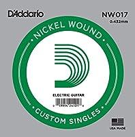 D'Addario ダダリオ エレキギター用バラ弦 ニッケル .017 NW017 【国内正規品】
