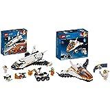 レゴ(LEGO) シティ 超高速! 火星探査シャトル 60226 ブロック おもちゃ 男の子 &  シティ 人口衛星を追うジェット機 60224 ブロック おもちゃ 男の子【セット買い】