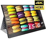 cocopar2019最新15.6インチ4k NTSC72%色域 モバイルモニター3840*2160 モニター USB Type-C / PS4 XBOXゲームモニタ/HDMIモバイルディスプレイ(厚さ4mm / 重さ830g) 保護ケース付重さ1.2kg (15.6-4K-NTSC 72%)