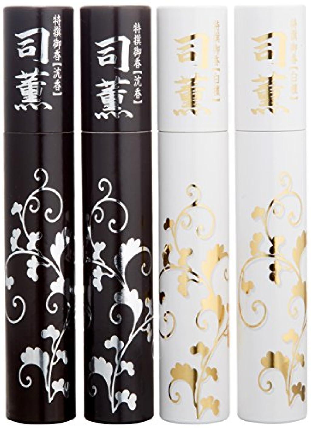 ばかげたアイザック非公式日本香堂 司薫 二種香(白檀?沈香) 桐箱 4筒入