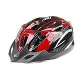 自転車用 ヘルメット サイクリング ロード マウンテン バイク バイザー サイズ調整可 アジャスター MINO Creates カラビナセット (レッド)