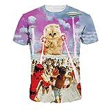 世界危機強力なエイリアン猫ブラウス成人Tシャツ