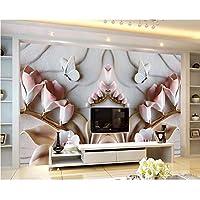 Wuyyii カスタム壁紙リビングルームの寝室のテレビの背景の壁3Dの花の救済蘭の背景の壁の殺人3Dの壁紙-280X200Cm