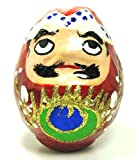 福岡県知事指定 特産伝統工芸品 4代目中尾英樹作 博多張り子 起き上がり 達磨 男 (小)