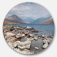 DesignArt mt11718-c38ロッキーWast水in Lake District Landscape円の壁アート – Disc 38、ブルー、38 x 38