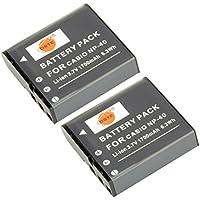DSTE? アクセサリ Casio NP-40 互換 カメラ バッテリー 2個 対応機種 Exilim EX-FC100 EX-FC150 EX-FC160S EX-Z400 EX-Z100 EX-Z1000