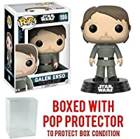 Funko Pop Star Wars: Rogue One - Galen Erso 186 Vinyl Figure (Bundled with Pop BOX PROTECTOR CASE)