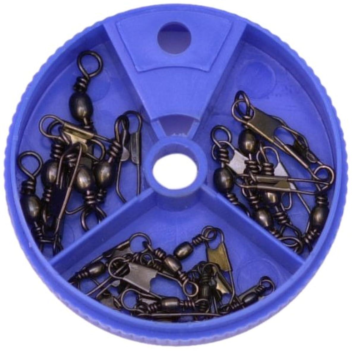 しばしばプール飛ぶEagle Claw Snap Swivel with Interlock Assortment, 20 Piece (Black)