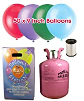 1 Disposable Helium Balloon Gas Cylinder by Shower My Baby