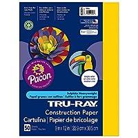 Tru-Ray Construction Paper, 76 lbs., 9 x 12, Yellow, 50 Sheets/Pack (並行輸入品)