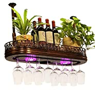 アイスバケットリーダー ワイングラスラック、多機能ライト調節可能ブームハンベイングバーGrablet Storageハンギングバーファミリーストレージラック、ブロンズ (Size : 100*28cm)