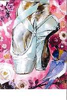 バレエ 《Gizelle HEART》ジゼルハート★バレエポストカード dessusdessous GH 水色ポワント