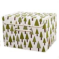 WTL かご?バスケット 覆われたオックスフォードの布の収納ボックス下着の収納ボックス不織布の衣類の収納ボックス洋服の収納ボックス (色 : A, サイズ さいず : L l)