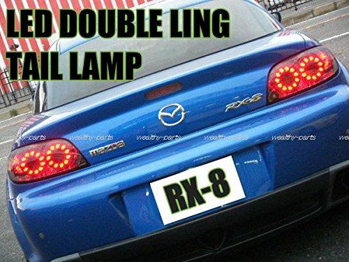 RX-8 LEDダブルリング スモークテールランプ(前期用) 左右セット