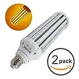 E26口金 45W トウモロコシ型 LEDコーンライト 400W相当 水銀灯 led 代替 電球色 2個セット