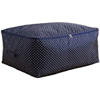 4PCSラージストレージバッグブルードットパターンオックスフォード布防水防湿ポータブル折りたたみストレージワードローブキルト服デコレーション移動仕上げ収納袋4個/セット (サイズ さいず : 58 * 22 * 38cm)