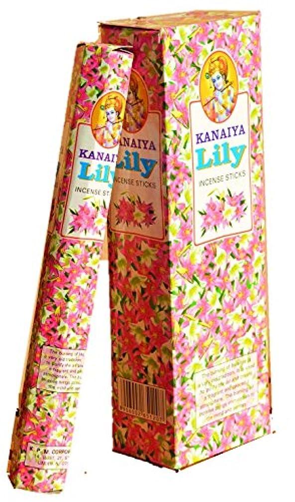 上げる警官邪悪なLily Incense Sticksインドから – 120 Sticks – madeからNatural Scented Oil – Kanaiyaブランドby tikkalife