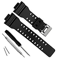 Dailychoices 16mm WATCH BAND STRAP FITS CASIO G SHOCK GA-100 G-8900 GW-8900 PINS TOOL AU