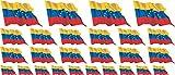 ミニステッカーセット - パックが旗を振っ - 4x 51x31mm+ 12x 33x20mm + 10x 20x12mm- 自己粘着ラベル - Venezuela - 車、オフィス、家庭や学校のための標準的なフラグ/バナー/ - Set of 26