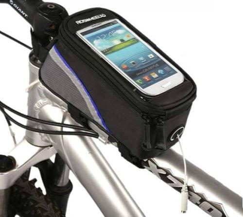 【ノーブランド品】 スマートフォン ホルダー iphone Galaxy 等 「 自転車 や バイクの フレーム に 取り付け簡単 スマートフォン の タッチ操作 も 可能 」 (レッド)