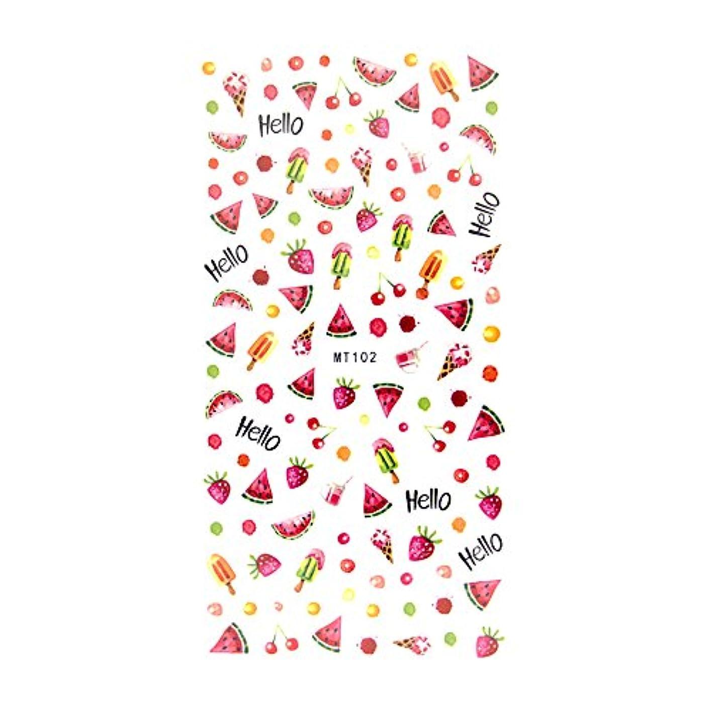 スタンドシャイニングフィードバックirogel イロジェル フルーツ 果物 パラダイス シール ネイルシール【MT102】