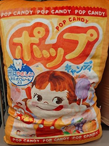 不二家 ポップキャンディ 背当てクッション 30×43 FUJIYA ペコちゃん POP CANDY