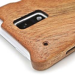 HTC J ISW13HTケースカバー(木製:高級木マホガニー)