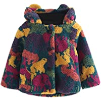 FEITONG Little Girls' Sweater Hooded Knit Pullovers Cardigan Warm Coat